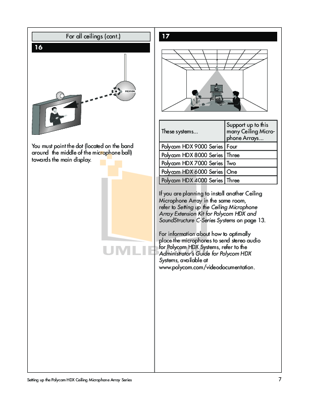 polycom ceiling mic guide