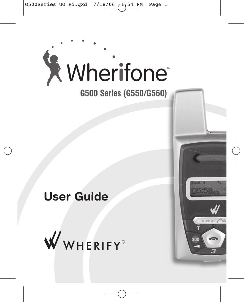 pdf for Wherify Cell Phone Wherifone G560 manual
