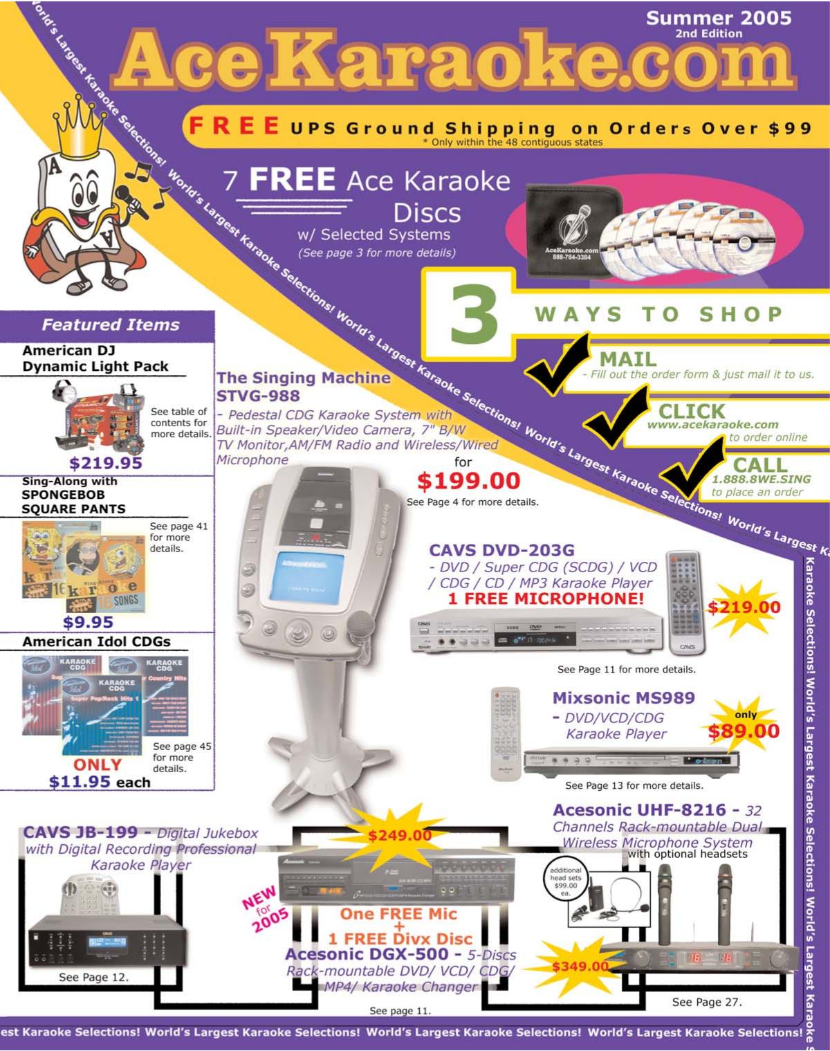 pdf for RSQ Karaoke System Echo Series C320 manual
