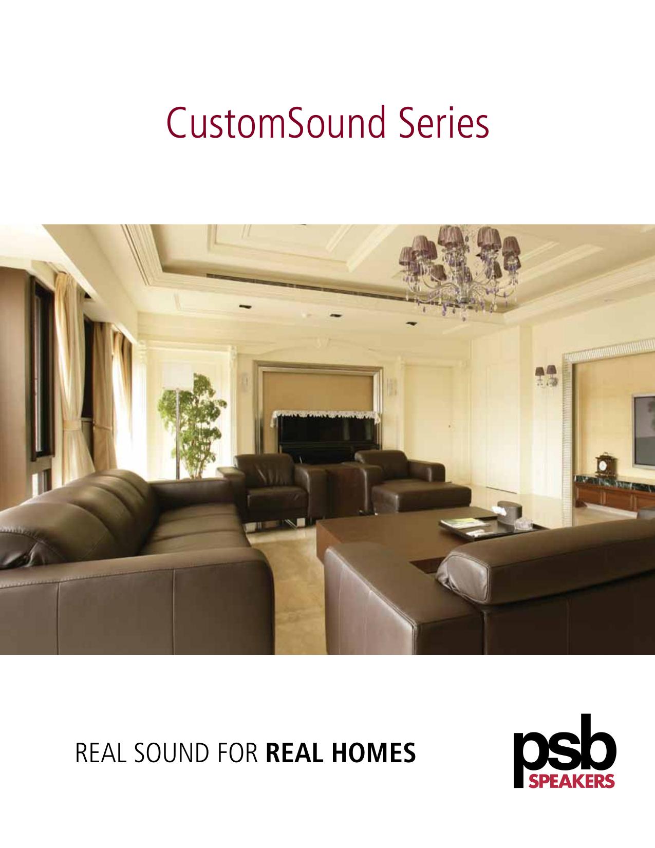 pdf for PSB Speaker System CustomSound CW800E manual