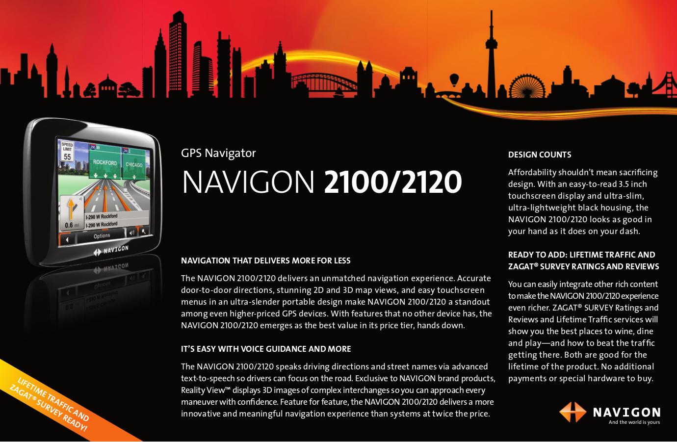 pdf for Navigon GPS 2100 manual