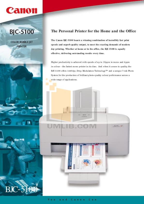 pdf for Canon Printer BJC-5100 manual