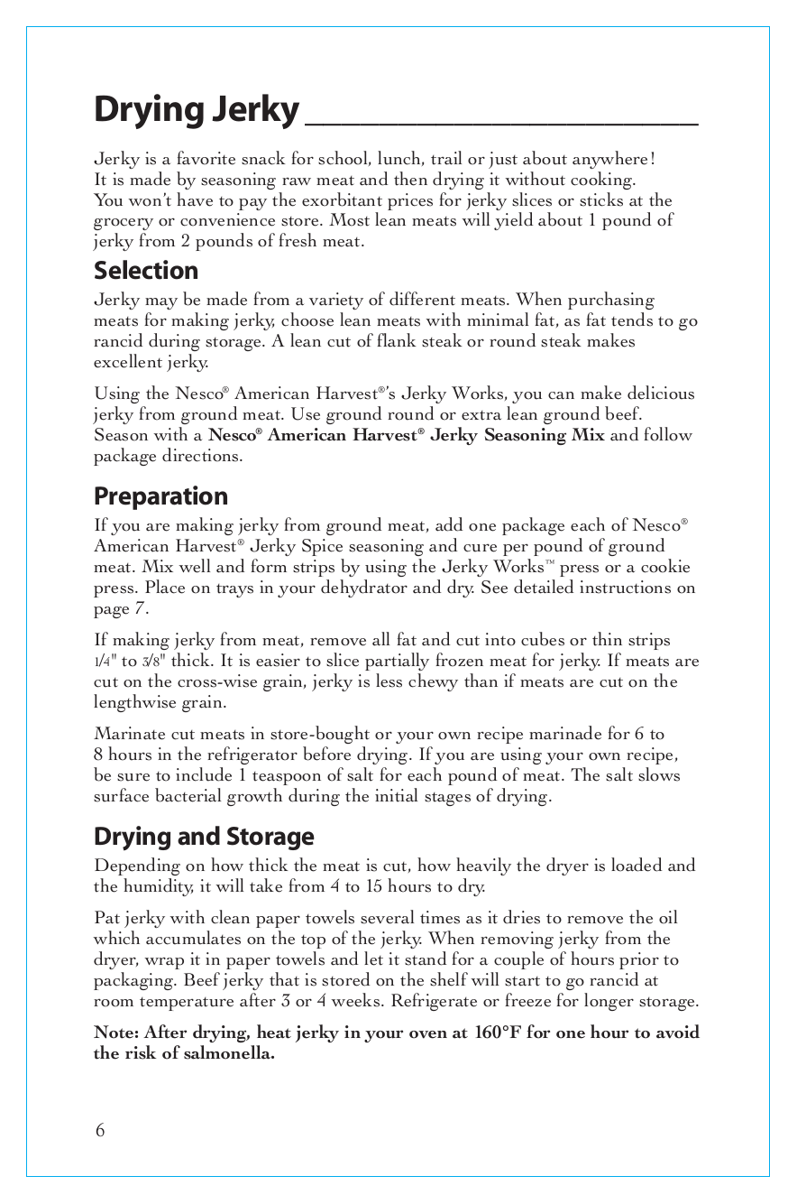 Nesco Other FD-60 Food Dehydrator pdf page preview
