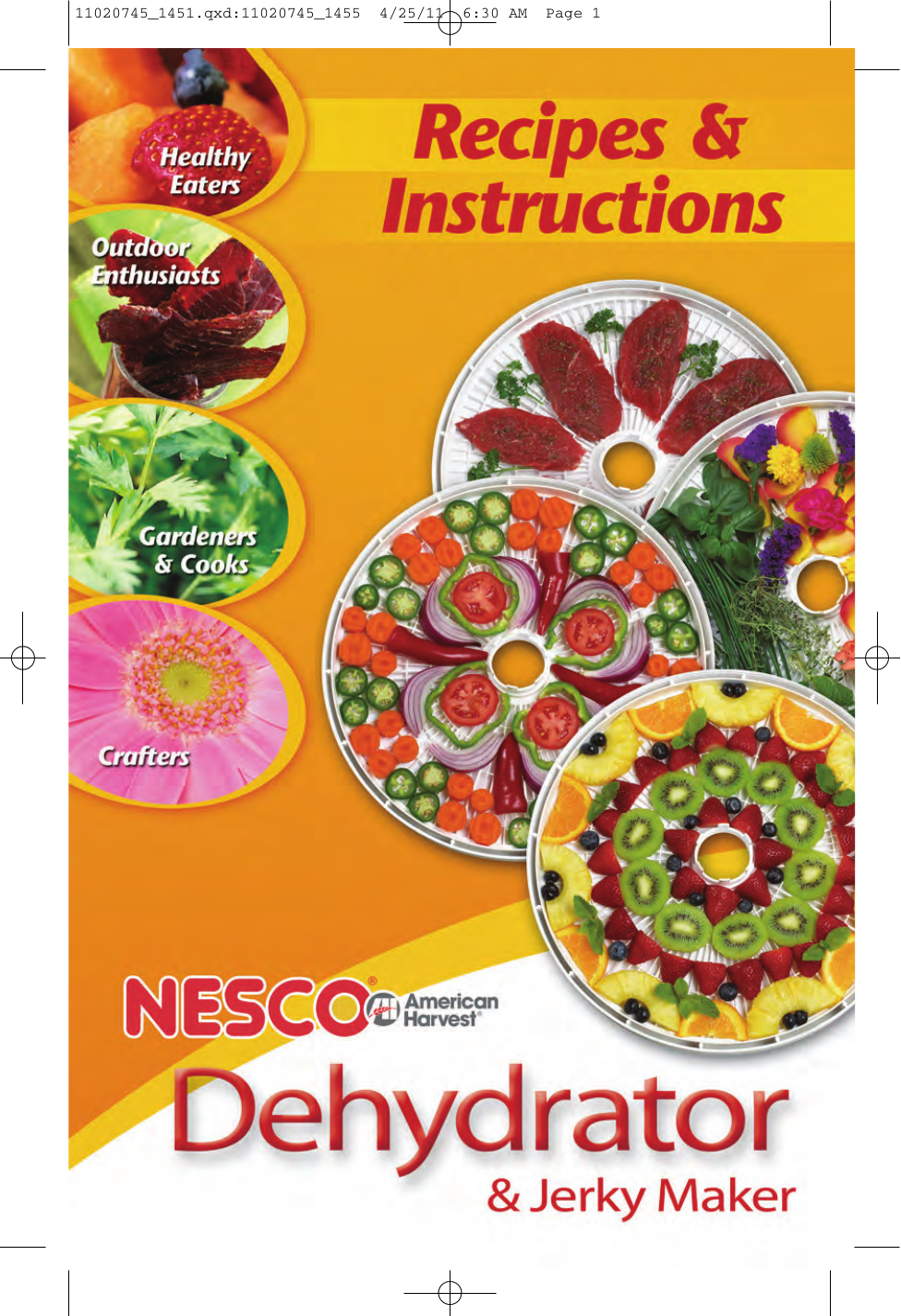 pdf for Nesco Other FD-60 Food Dehydrator manual