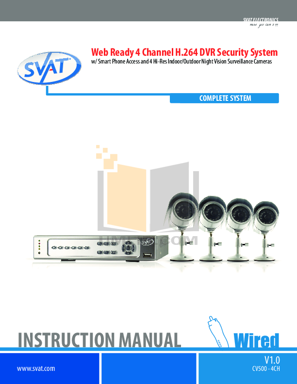 pdf for Clarion Other S400 CCTV Systems manual
