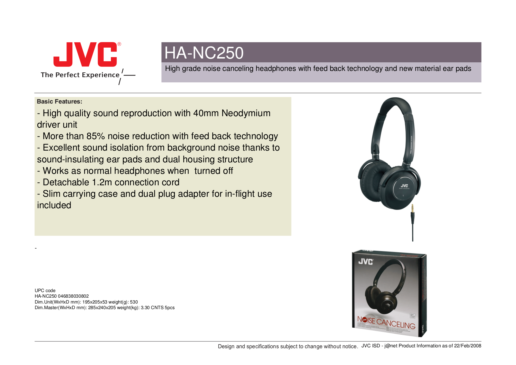 e98b51350b1 Learning add required I study JVC's 00. Specifications s Specifications  Also Ha-nc80-j, operating foam-cushioned ear pads add one last layer, HA- NC250-J ...