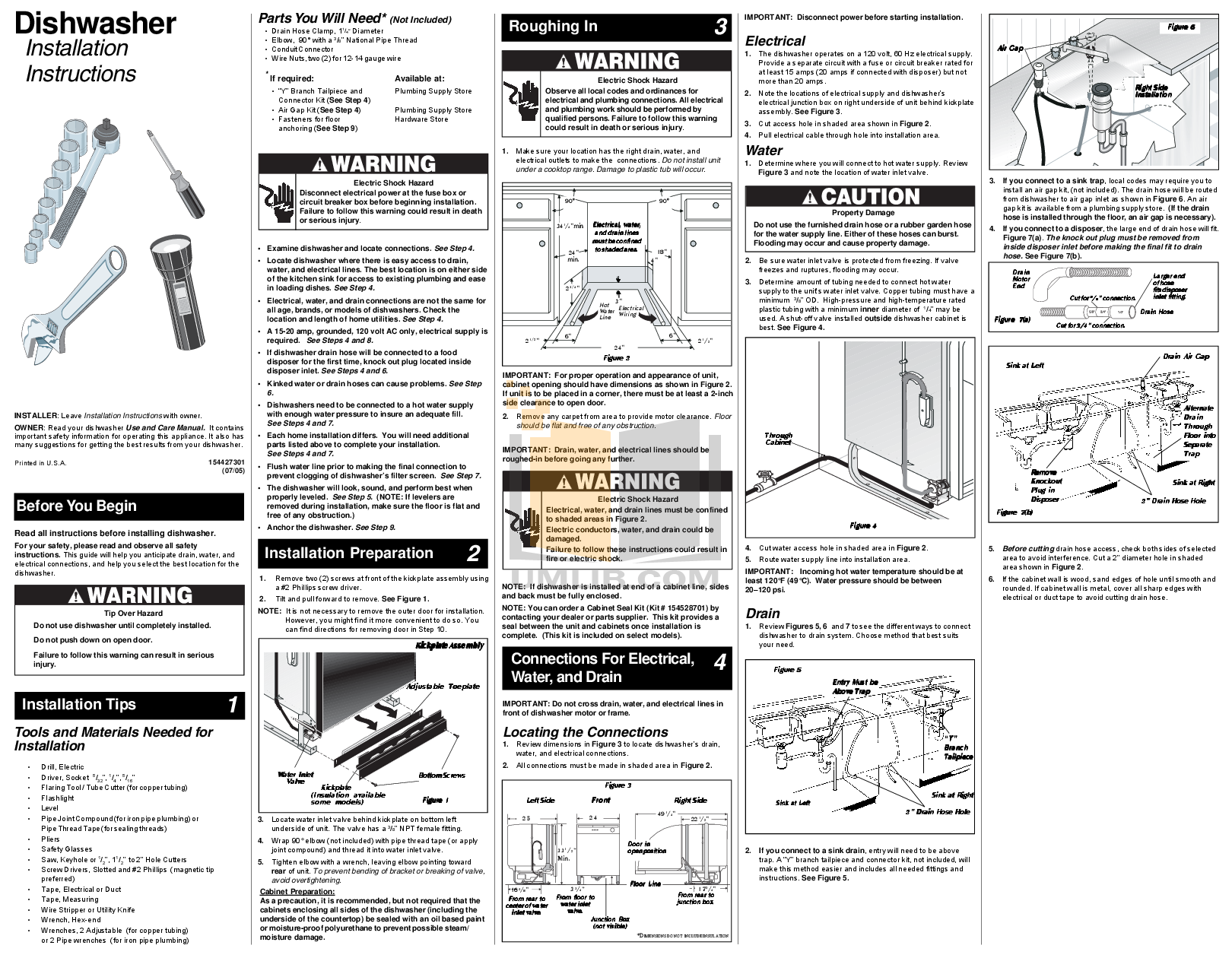 Download Free Pdf For Frigidaire Fphd2491kf Dishwasher Manual Range Wiring Diagram