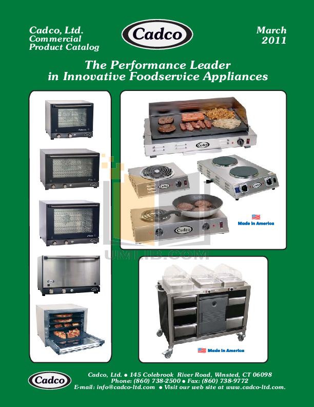 pdf for Cadco Other CMLB-CSG Buffet Servers manual