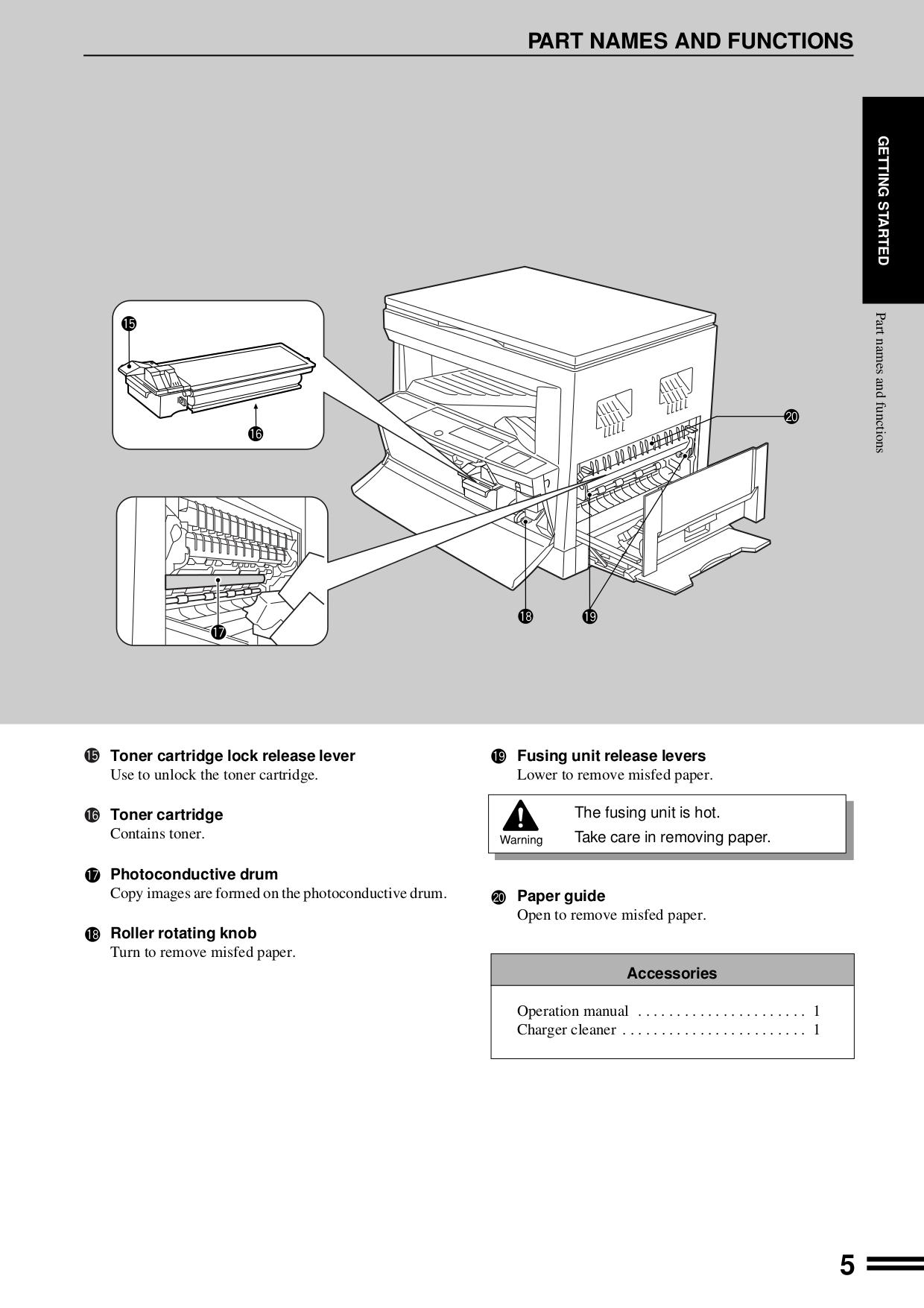 Sharp Copier AR-162S pdf page preview