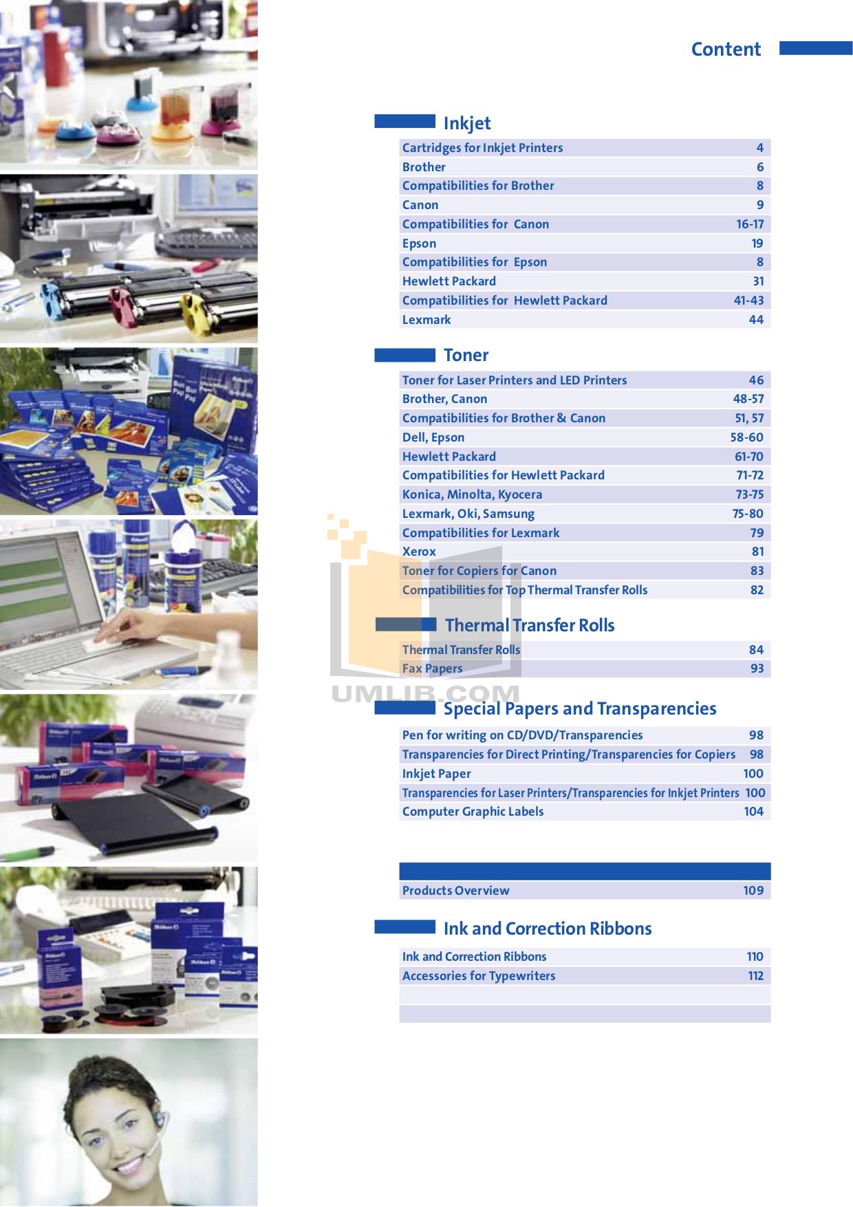 Canon Printer i250 pdf page preview