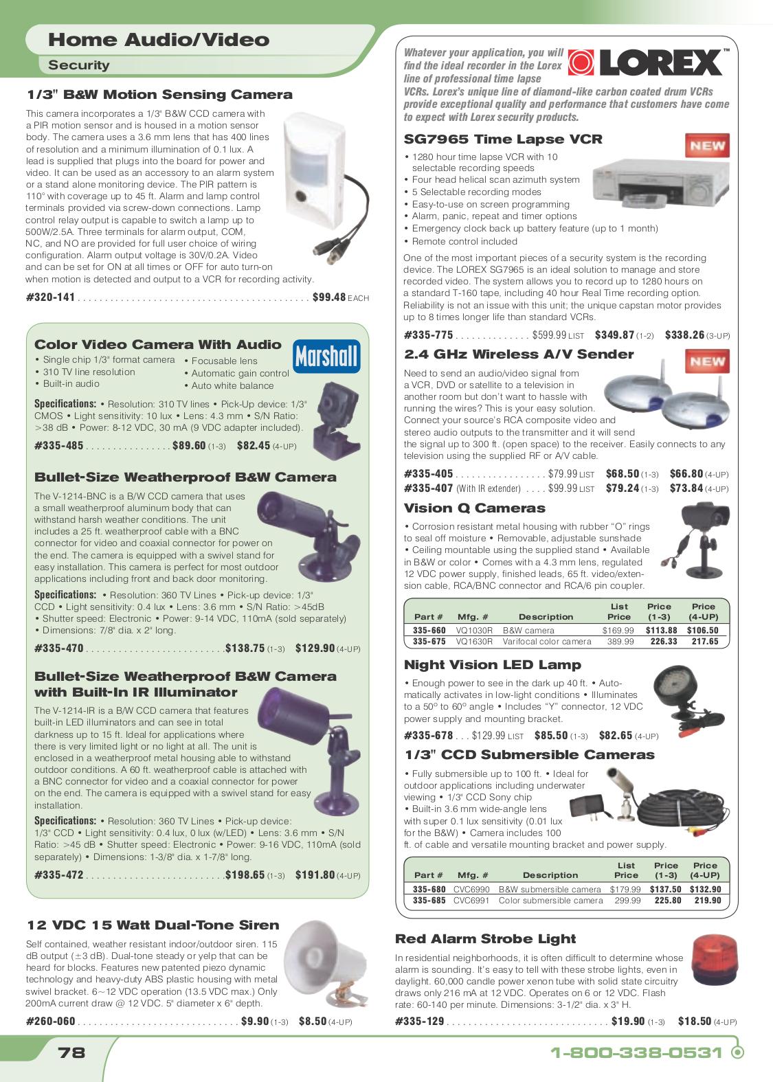 pdf for Lorex VCR SG7965 manual