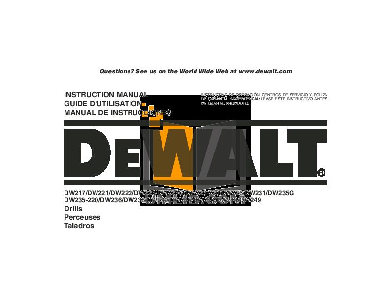 Dw236 Manual