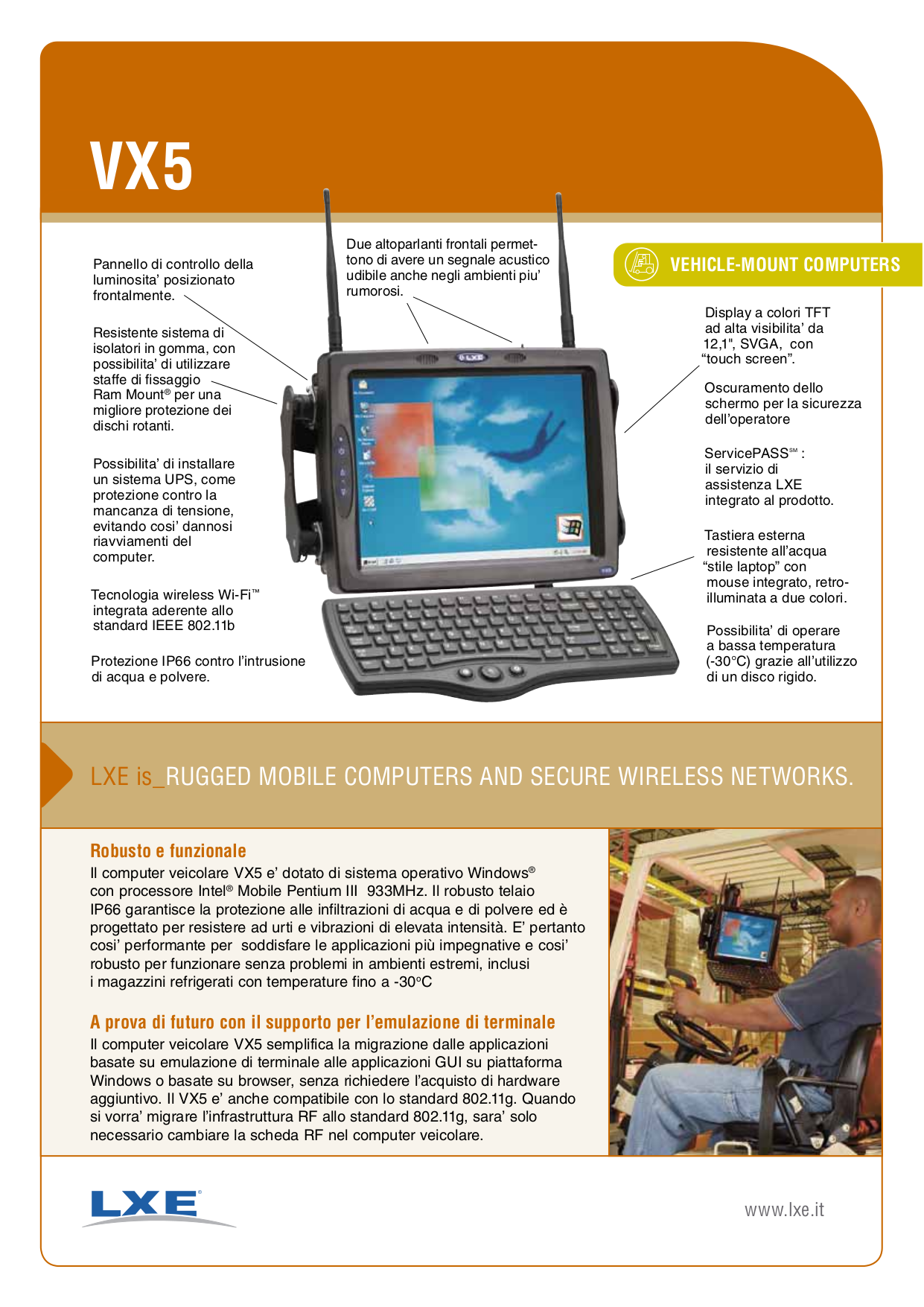 pdf for LXE Laptop VX5 manual