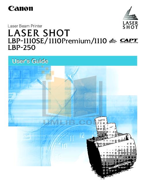 pdf for Canon Printer LBP-810 manual