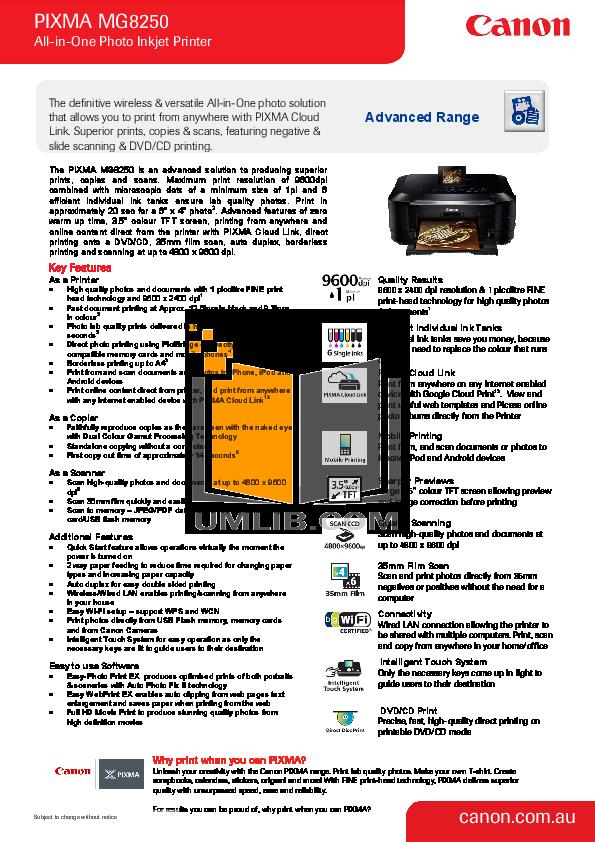 pdf for Canon Printer CD-300 manual