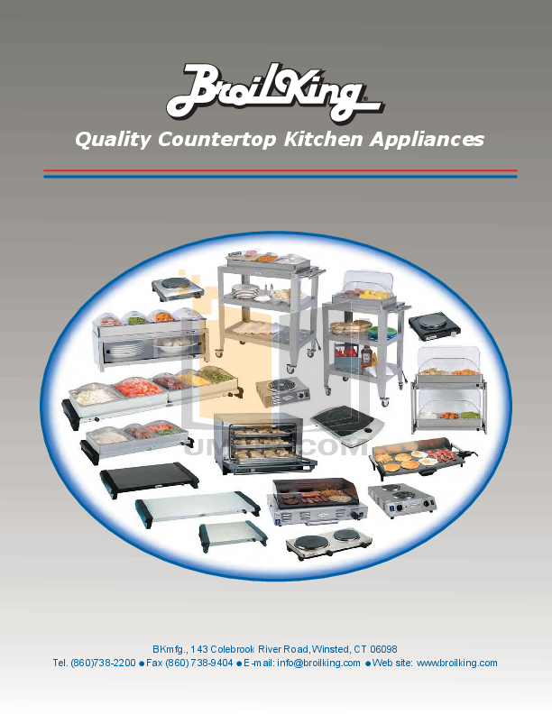 pdf for Cadco Other WTBS-5RT Buffet Servers manual