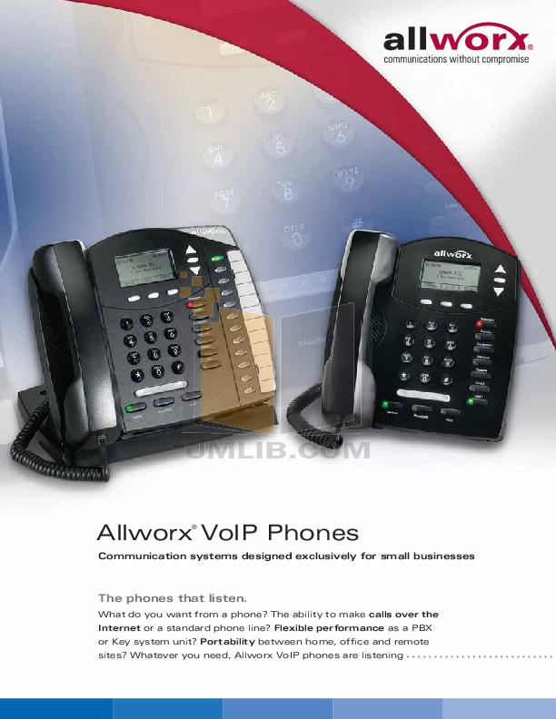 pdf for Allworx Telephone 9102 manual