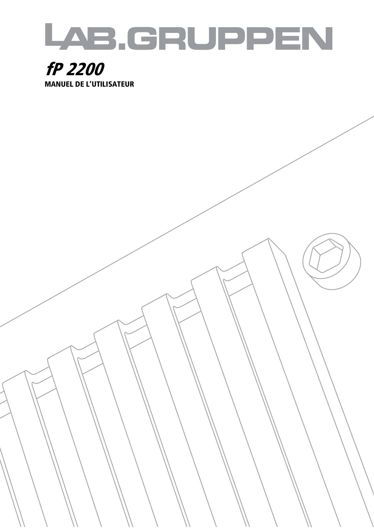 pdf for Lab.gruppen Car Amplifier FP 2200 manual