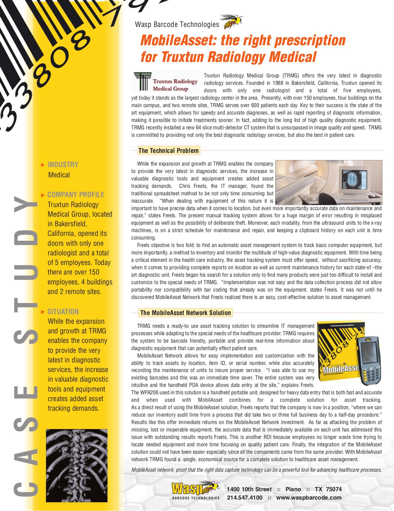 pdf for Wasp PDA WPA206 manual