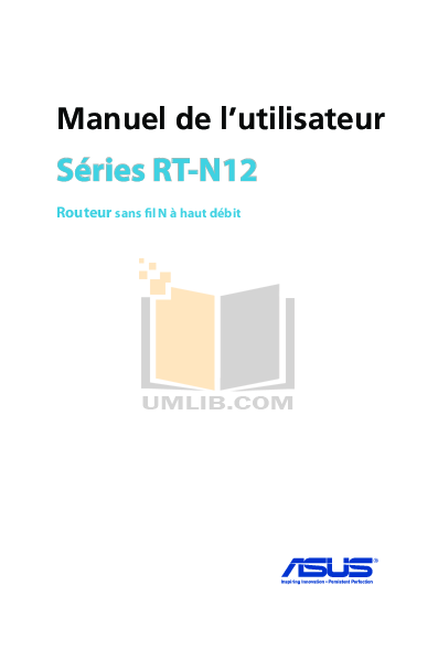 pdf for Asus Wireless Router RT-N12 manual