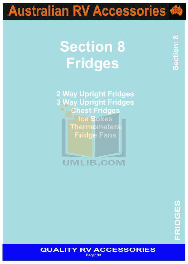 pdf for Engel Freezer MT35F manual