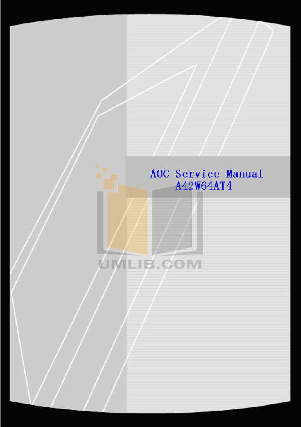 pdf for AOC TV A42W64AT4 manual