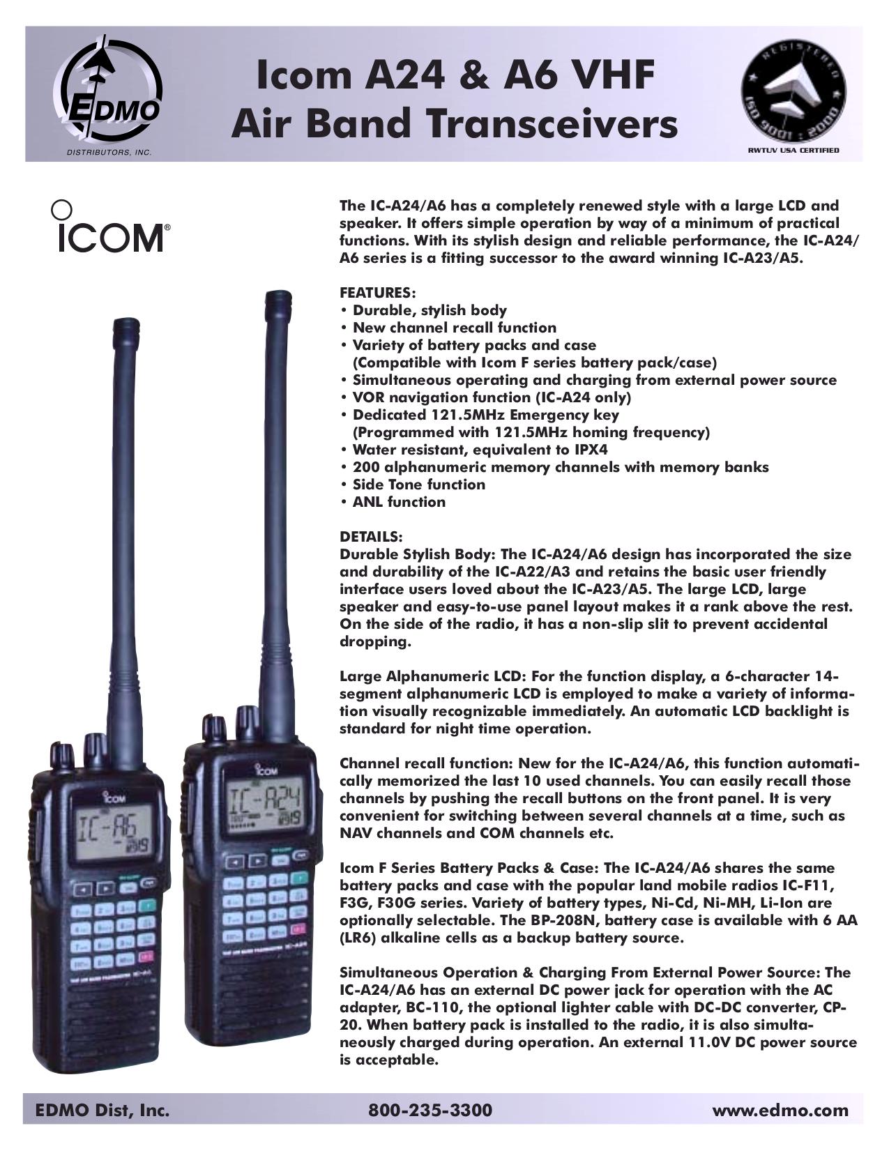 Icom Ic a6 Manual Pdf