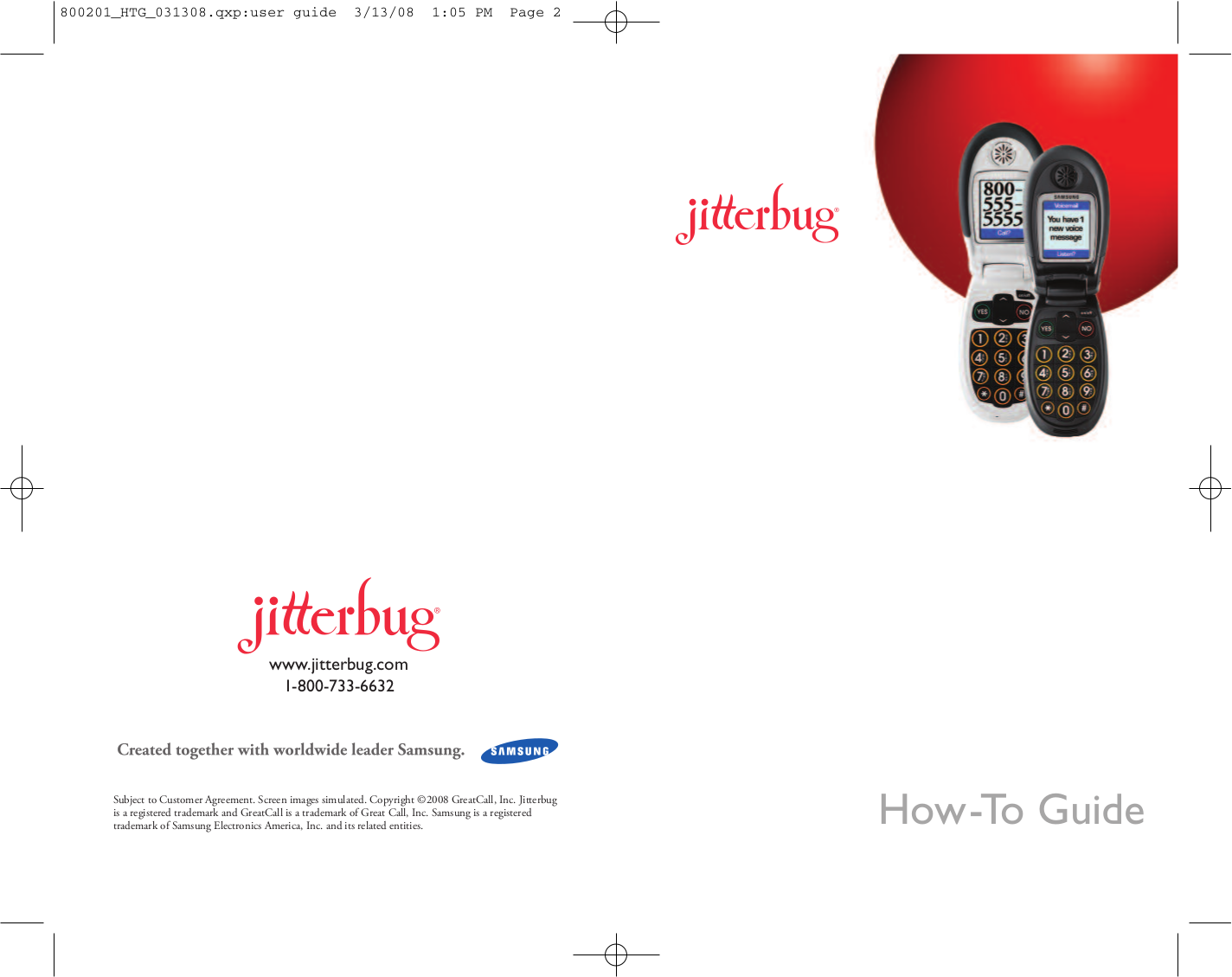 pdf for Jitterbug Cell Phone Dial manual