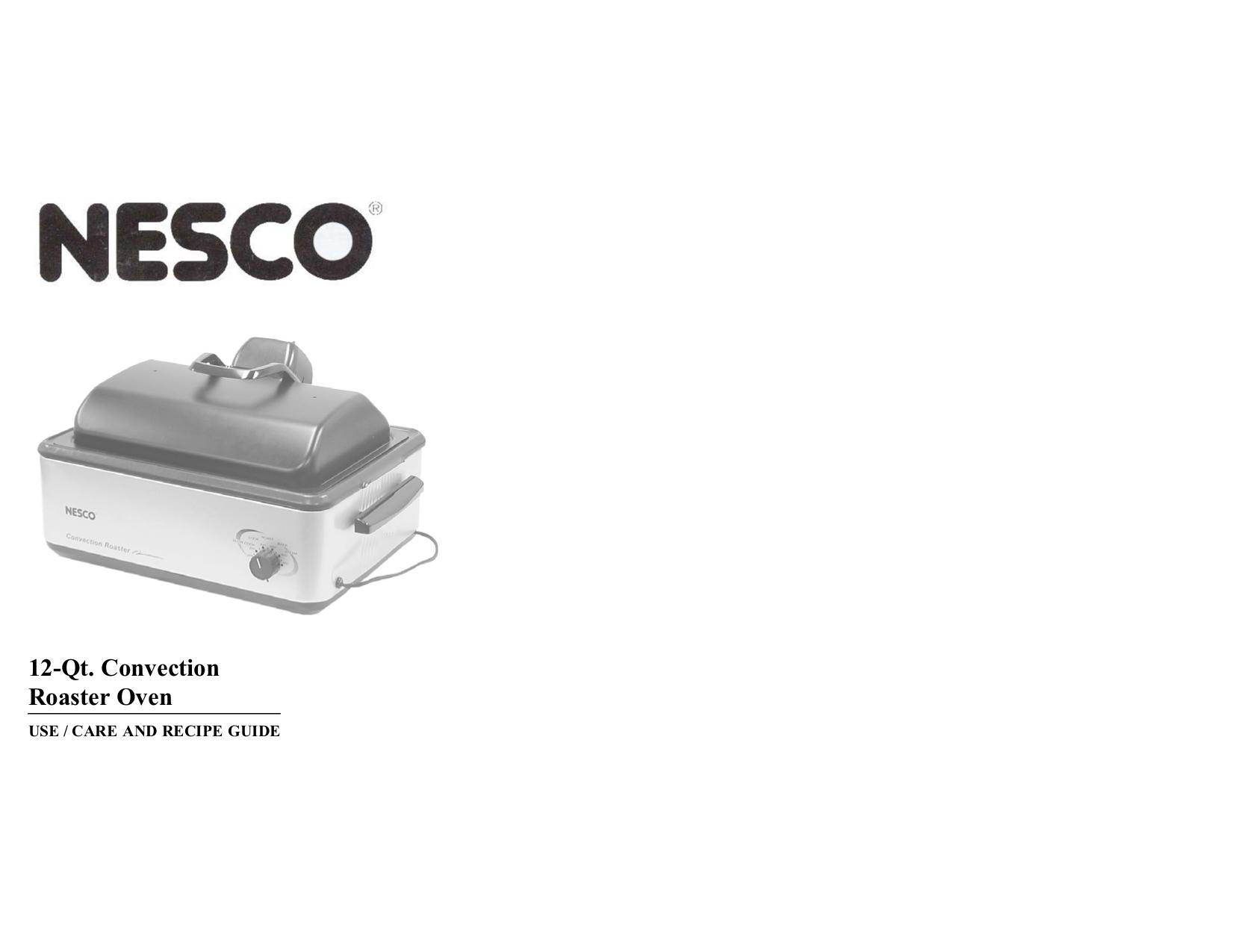 pdf for Nesco Oven 4842-25PR manual