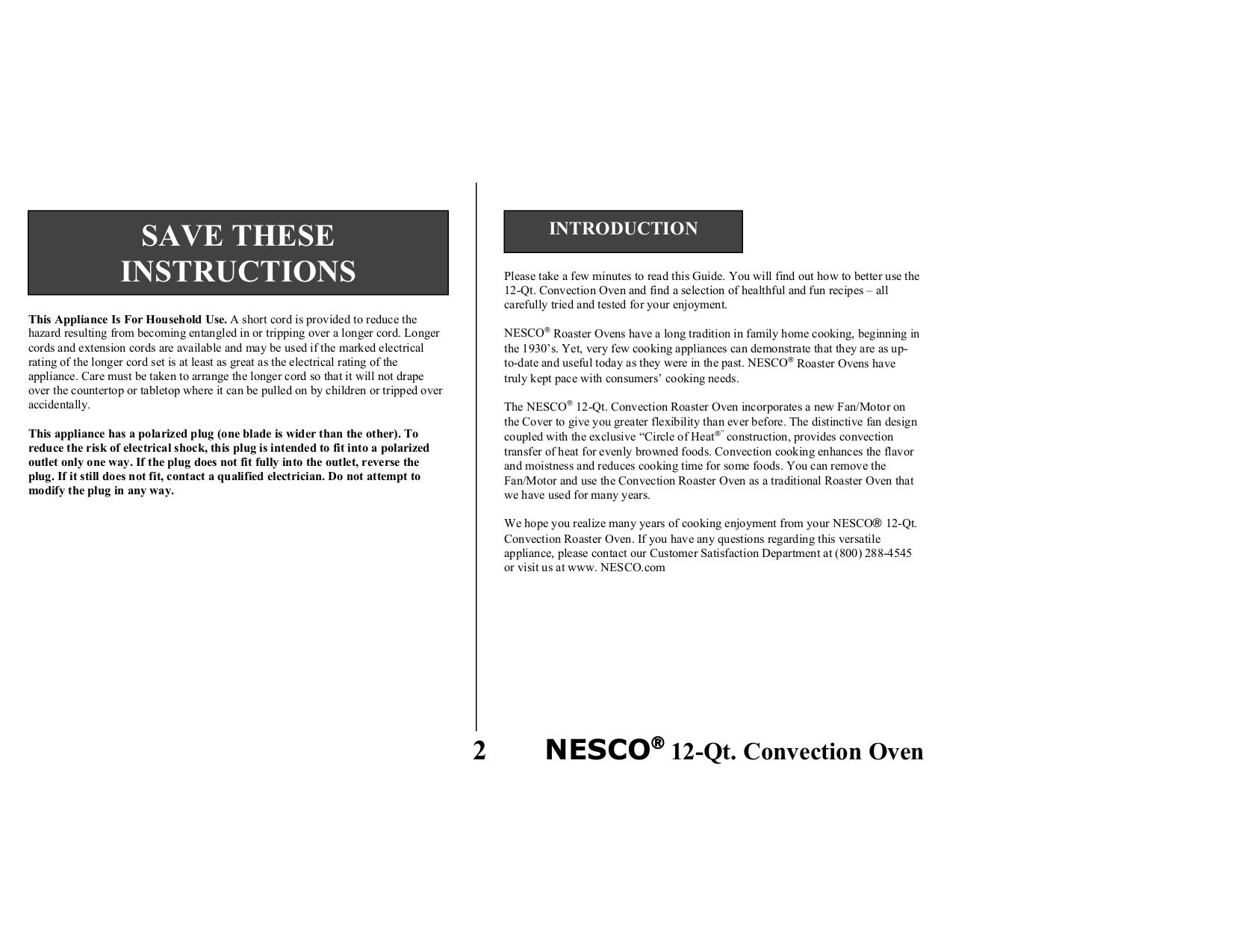 Nesco Oven 4842-25PR pdf page preview