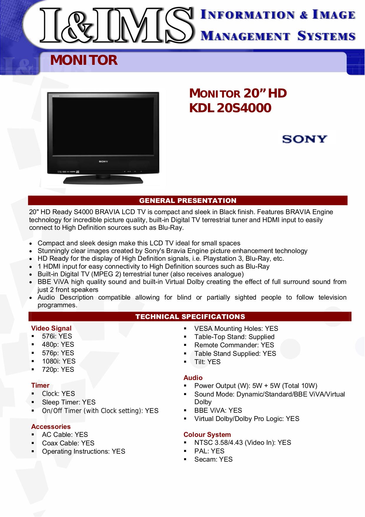 I manual For sony bravia Tv