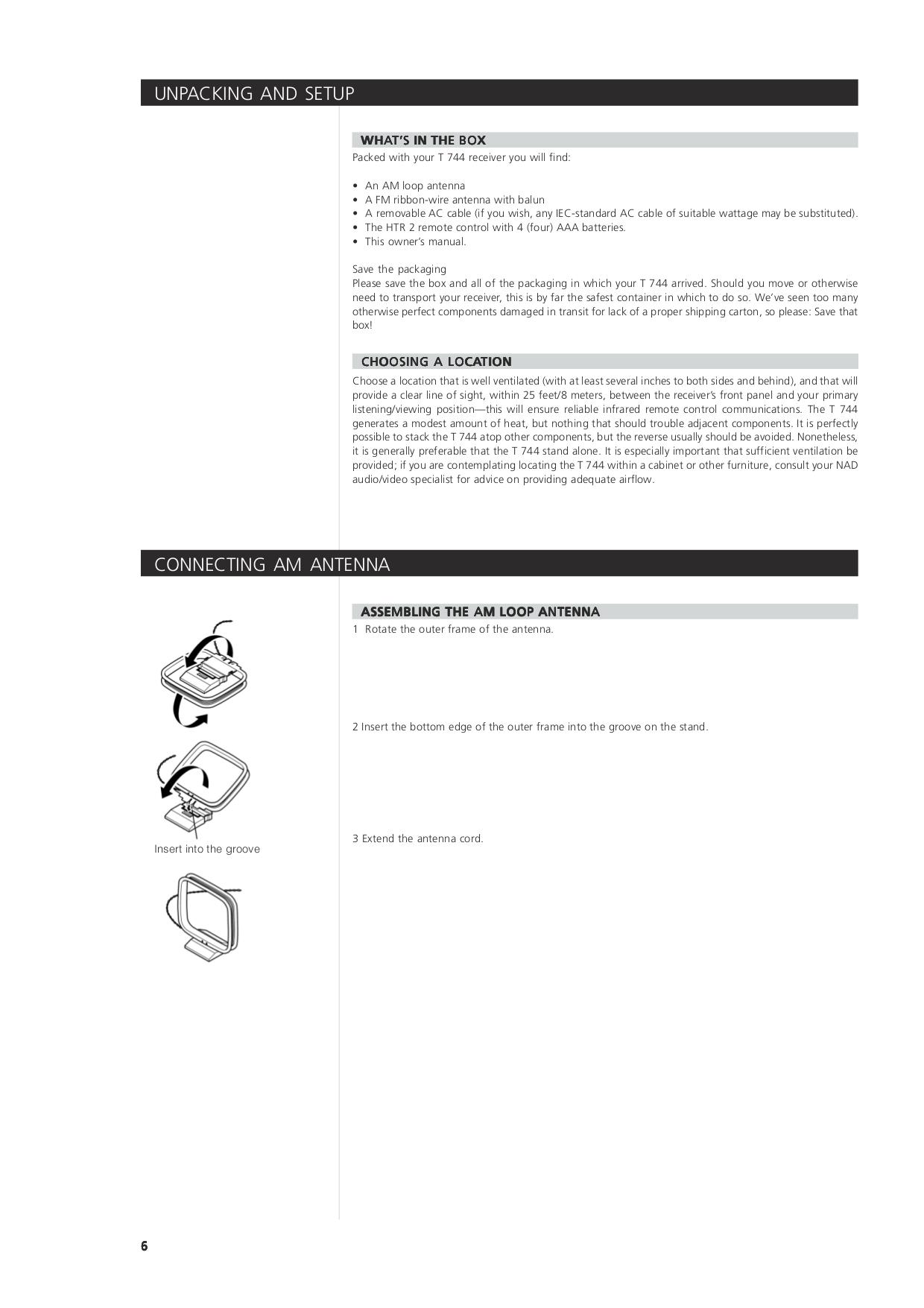 NAD Remote Control HTR-2 pdf page preview