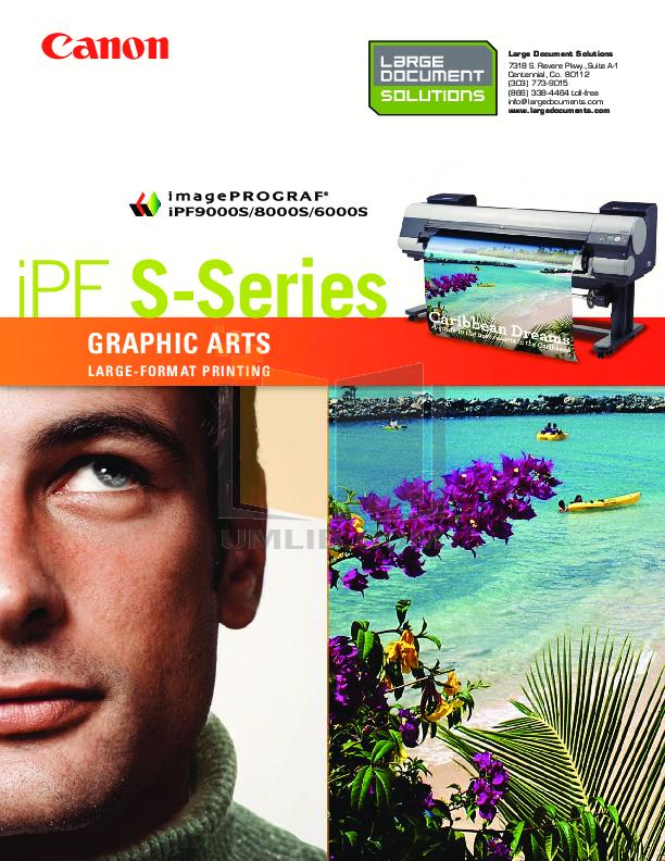 pdf for Canon Printer imagePROGRAF iPF9000S manual