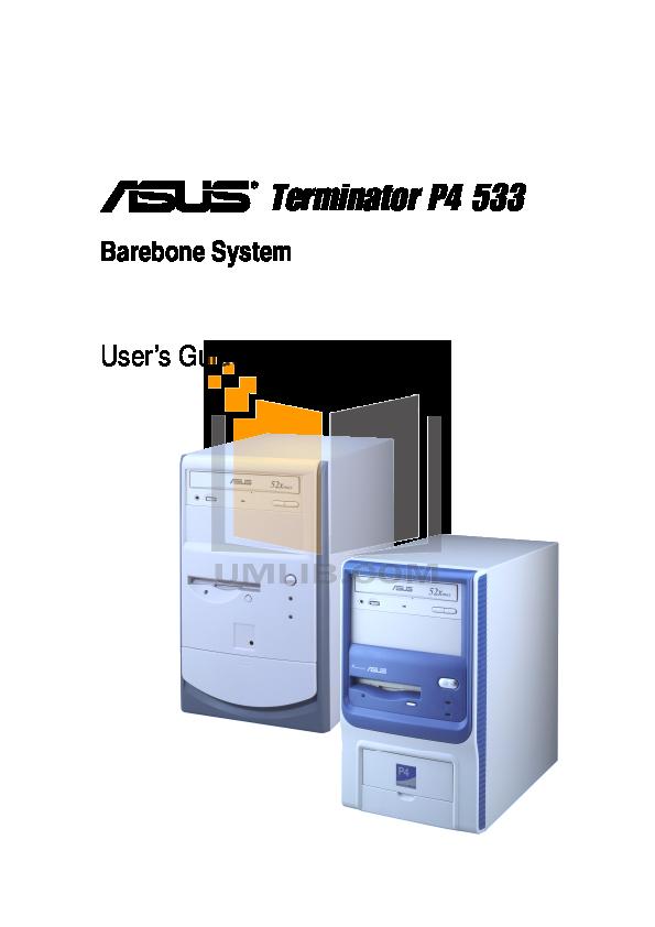 pdf for Asus Desktop Terminator P4 533A manual