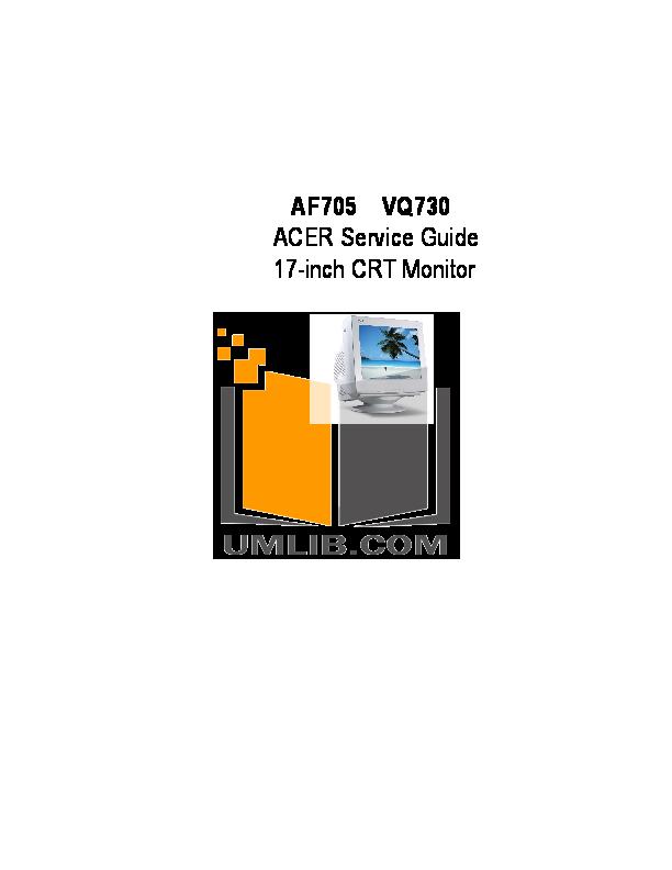 pdf for Acer Monitor AF705 manual