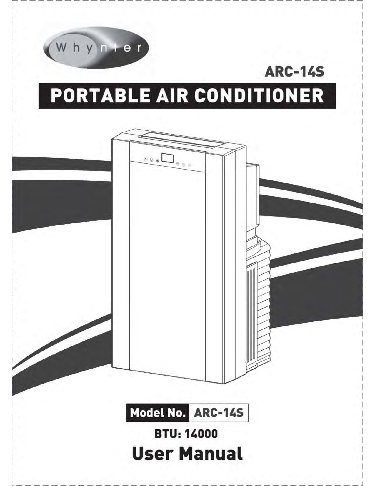 pdf for Whynter Air Conditioner ARC-10WB manual