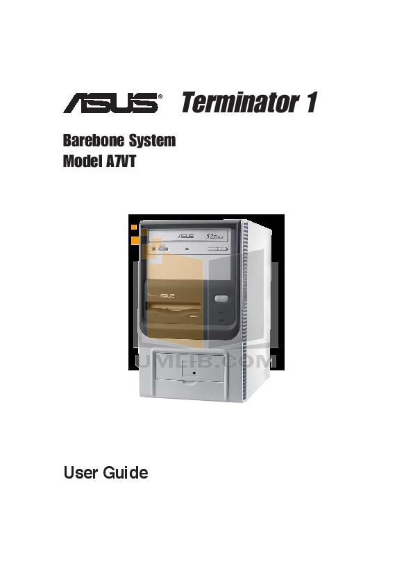 pdf for Asus Desktop Terminator A7VT manual