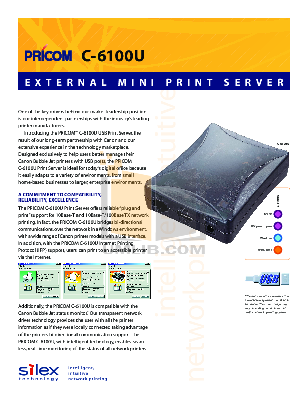 pdf for Canon Printer BJC-S600 manual