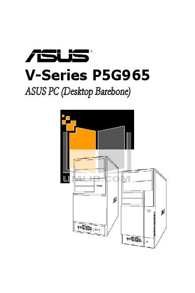 pdf for Asus Desktop V3-P5G965 manual