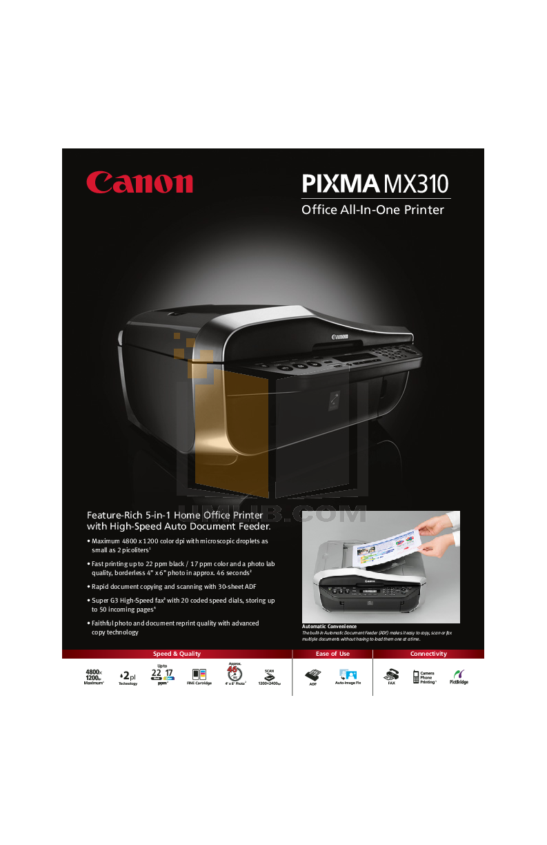 pdf for Canon Printer 310 manual