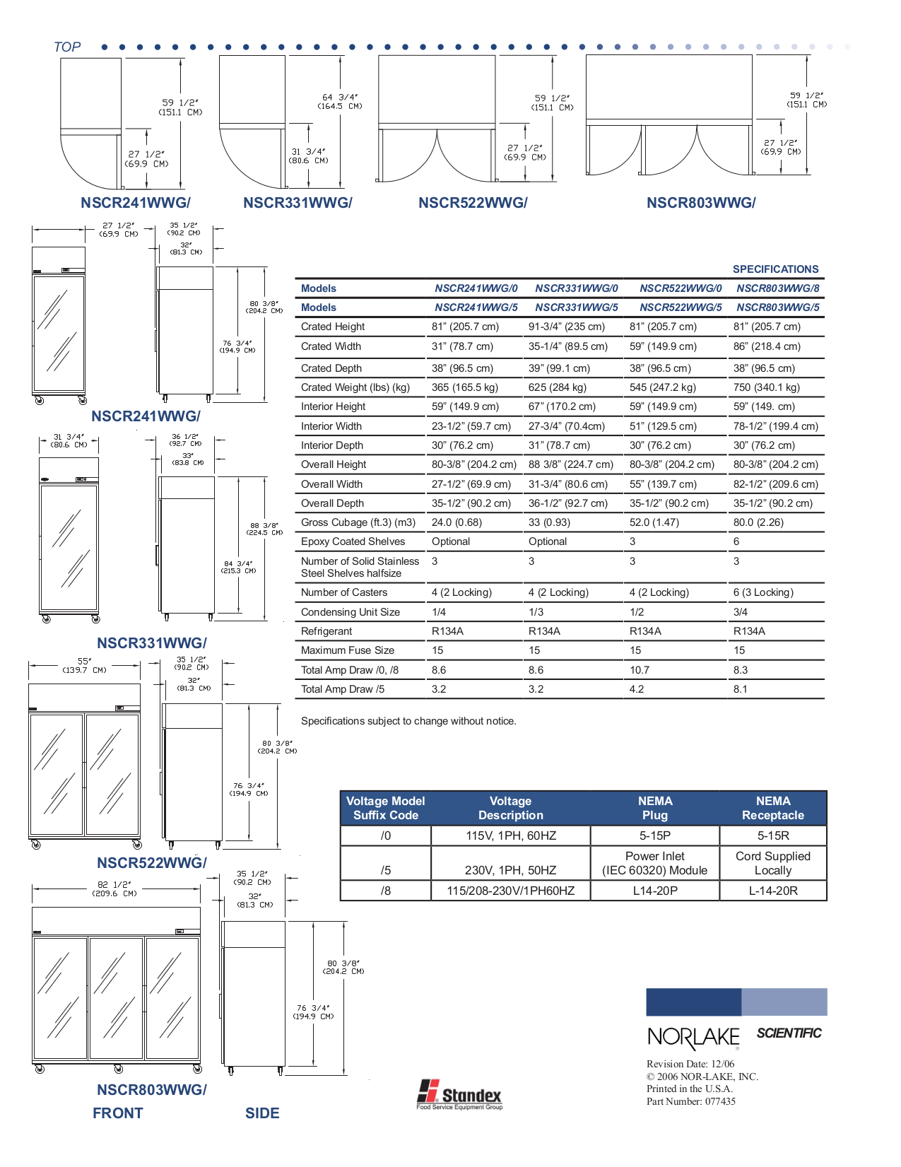pdf for Norlake Refrigerator NSCR522WWG manual