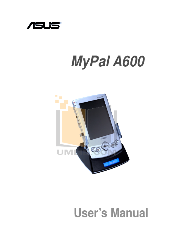 pdf for Asus PDA MyPal A600 manual