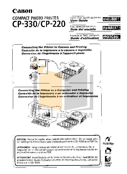 pdf for Canon Printer CP-330 manual