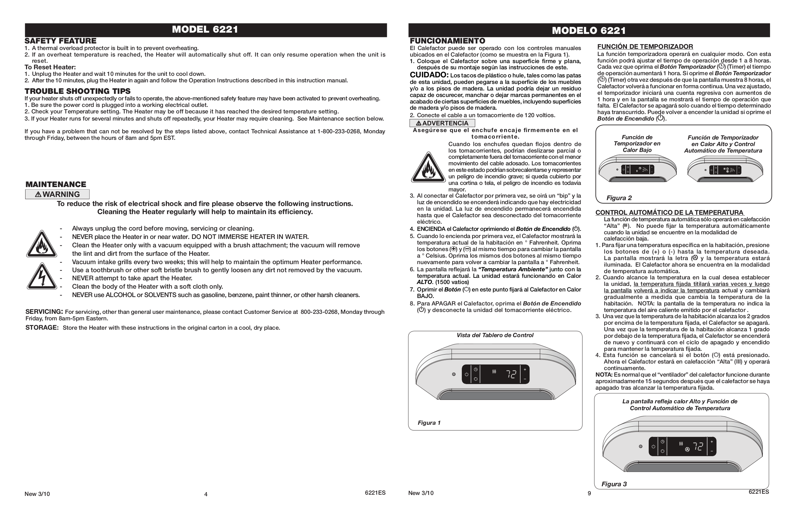 Lasko Heater 6221 pdf page preview