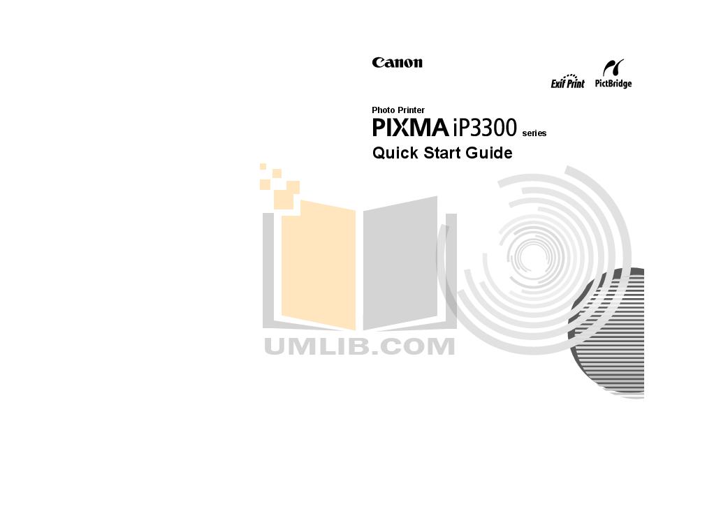 pdf for Canon Printer PIXMA iP3300 manual