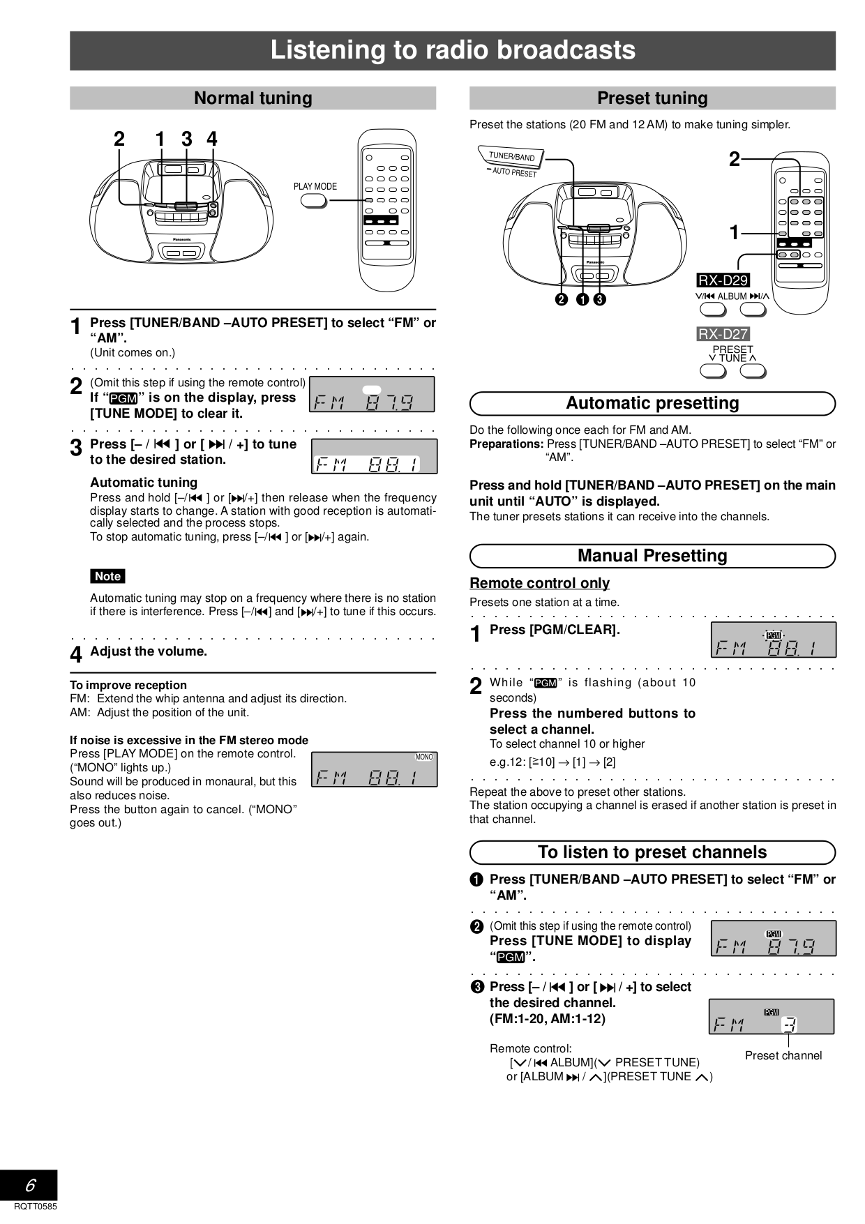 Lenoxx Boombox CD-163 pdf page preview