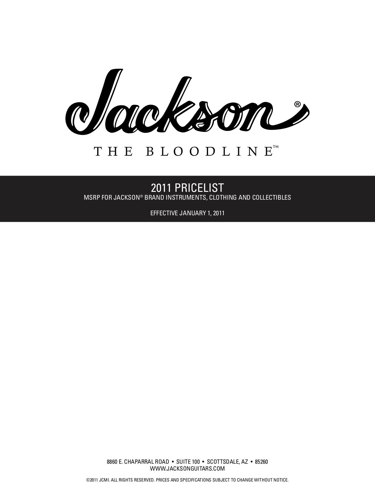 pdf for Jackson Guitar RR3 Rhoads manual