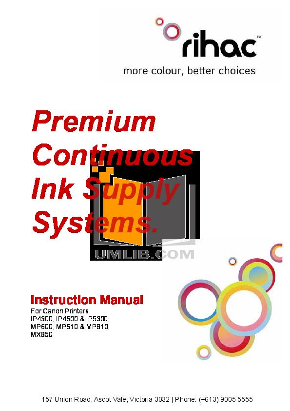 pdf for Canon Printer PIXMA iP4300 manual