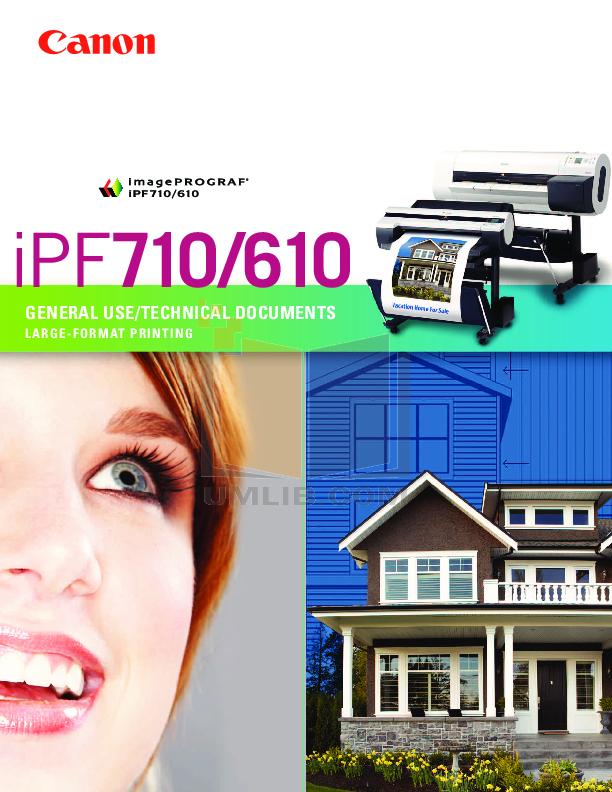 pdf for Canon Printer imagePROGRAF iPF610 manual