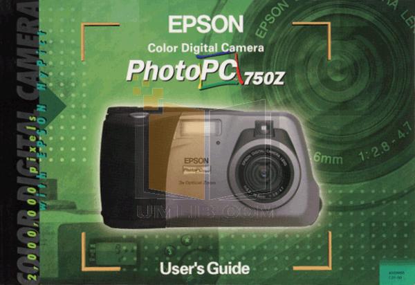 pdf for Epson Digital Camera PhotoPC 800 manual